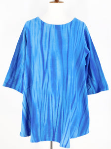 Swing Tunic - Shibori Print - Blue