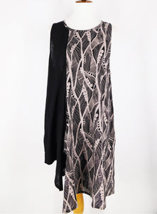 Funky Tank Dress - Jungle Berry Print - Black
