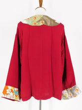 One-Of-A-Kind Assorted Kimono Obi Jacket - Red/Gold - S/M