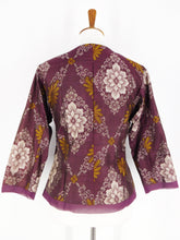 One-Of-A-Kind Assorted Kimono Silk Light Jacket - Dark Purple - S
