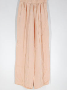 Silk Wide Pants - Pink - S/M