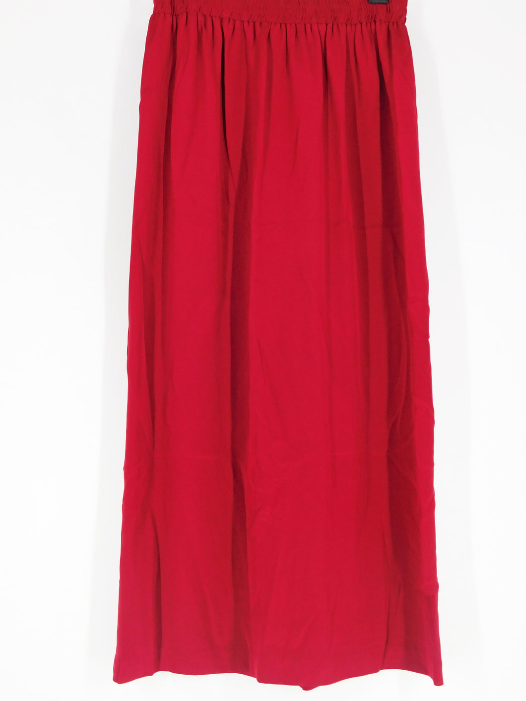 Silk Long Skirt - Red