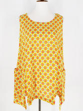 Pocket Tank - Little Margaret Print - Mustard