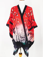Silk Long Kimono - One Hundred Views of Edo