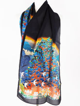 Silk Crepe Scarf - Flight