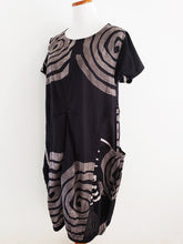 Balloon Dress - Kurukuru Print - Black