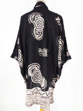 Oversized Button Front Shirt - Naruto Print - Black
