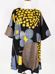 Simple Tunic - Nightingale Print - Black