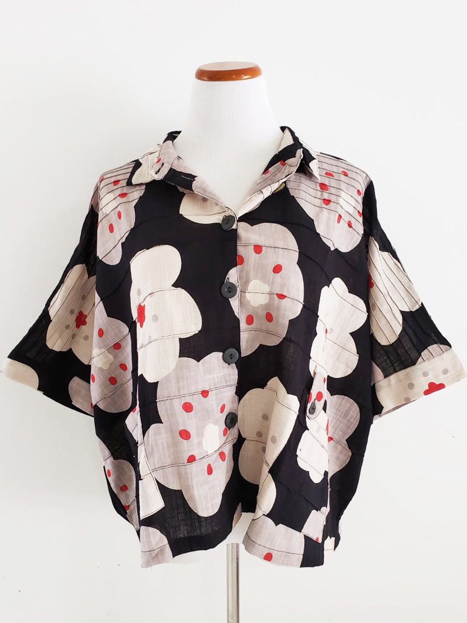 Tab Pocket Jacket - Ume Print - Black