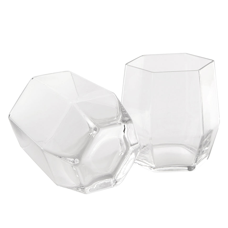 Geo Glass Clear 2 Pack