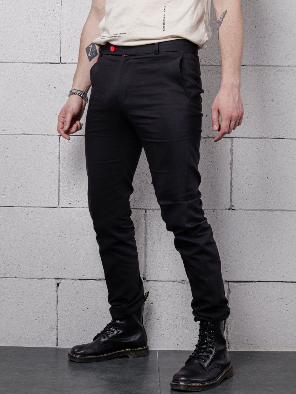 LONG BLACK Pants SERNES-SCR