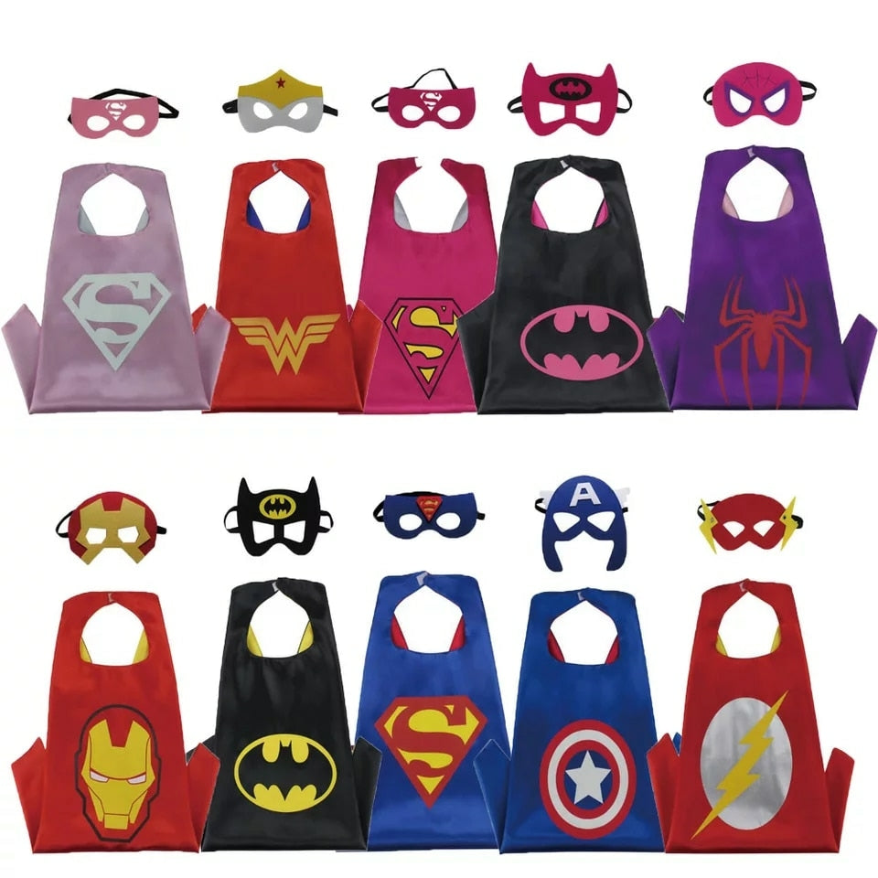 Super hero cape and mask add on-Made to match dress-not sold separatedly