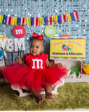 M&M Tutu Dress- m&m dress- M&M costume