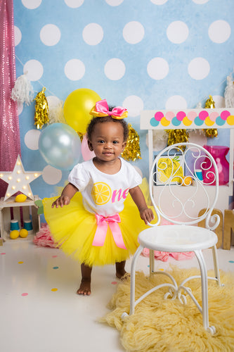 Lemonade tutu Set- lemonade tutu-lemonade birthday outfit-lemonade dress