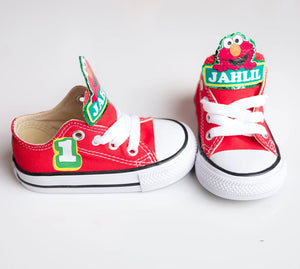 Elmo shoes-Elmo Converse-Boys elmo Shoes