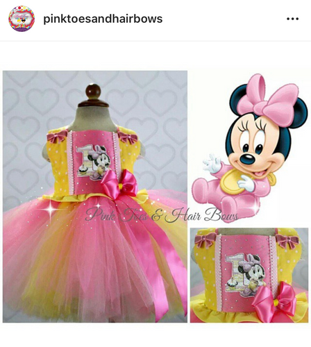 Baby Minnie Mouse Tutu dress- Minnie Mouse dress