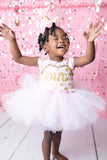First birthday dress-first birthday tutu dress- Pink And Gold Tutu Dress-Pink and gold dress-Birthday dress