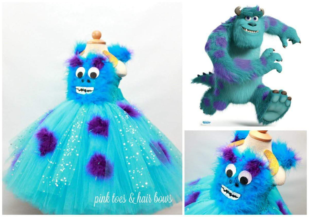 Sully dress-sully costume-sully tutu-sully tutu dress- monsters inc costume
