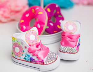 Donut shoes- Donut bling Converse-Donut Shoes
