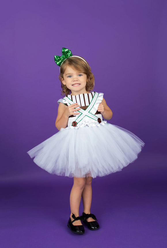 Oompa Loompa Costume- Oompa Loompa Dress- Oompa Loompa tutu dress-willy wonka dress