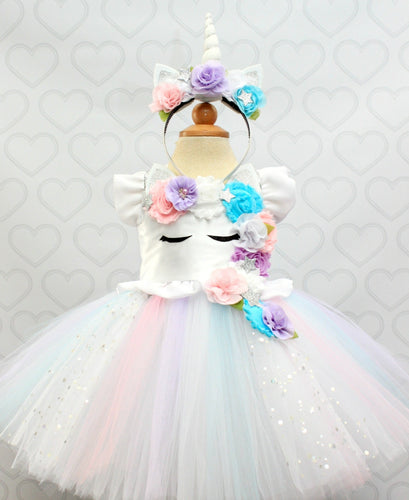 Unicorn dress-unicorn tutu dress-unicorn birthday dress-unicorn tutu-unicorn outfit-white