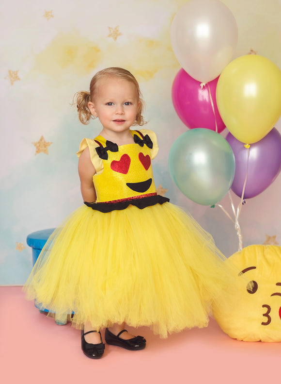 Emoji tutu dress- Emoji costume- Emoji tutu-Emoji dress-Emoji birthday