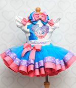 Load image into Gallery viewer, Abby Cadabby tutu set-Abby Cadabby tutu set-Abby Cadabby outfit-Abby Cadabby ribbon trim set