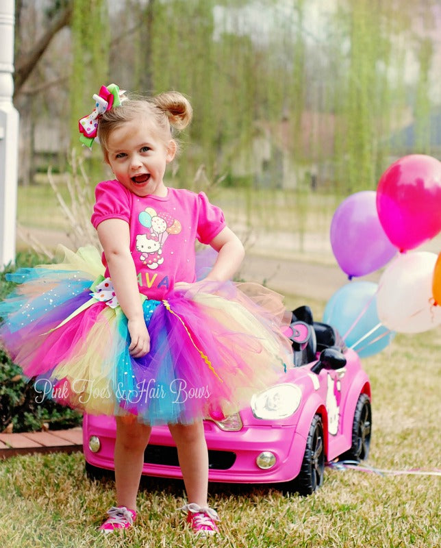 Rainbow Bling Kitty tutu Set