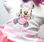 Load image into Gallery viewer, Baby Minnie Mouse tutu set-Baby Minnie Mouse outfit-Baby Minnie Mouse dress