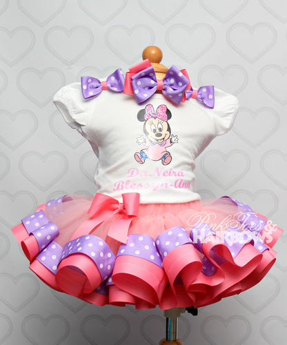Baby Minnie Mouse tutu set-Baby Minnie Mouse outfit-Baby Minnie Mouse dress