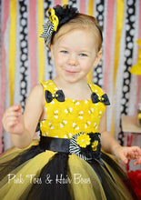 Busy bee tutu dress-Busy bee Pageant dress-Bumble Bee Costume