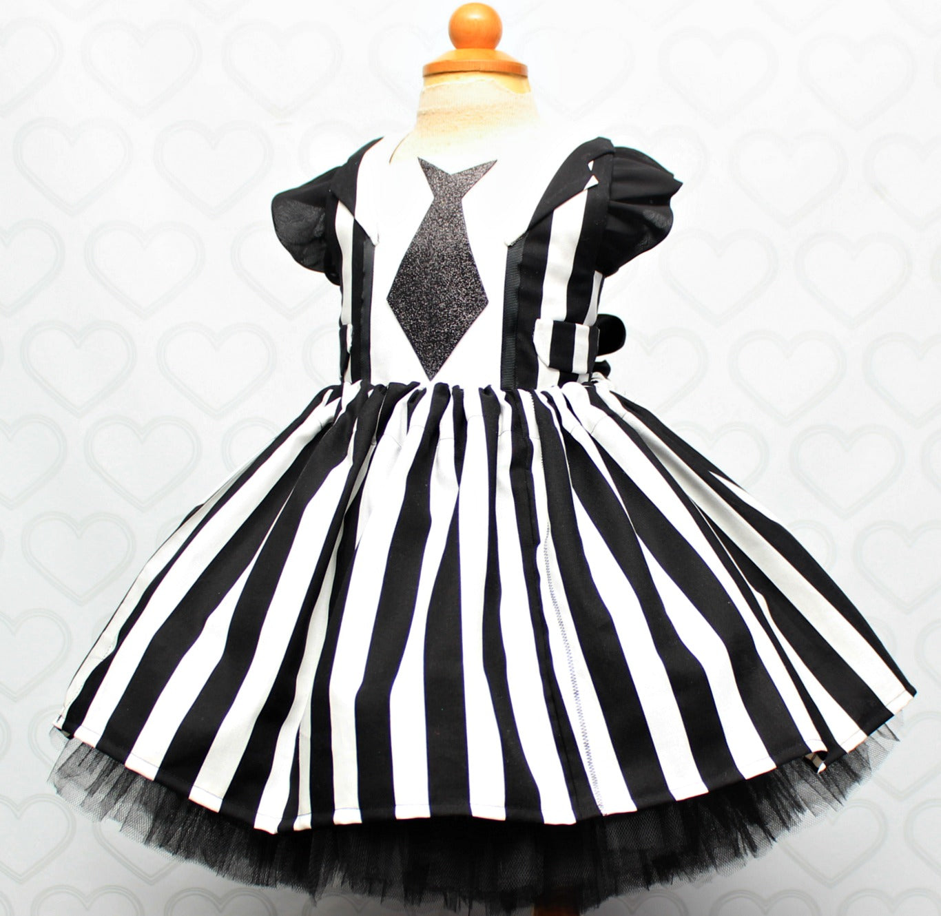Beetlejuice Dress Beetlejuice Costume Beetlejuice Tutu Dress Pink Toes Hair Bows