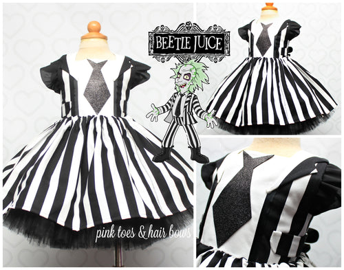 Beetlejuice Dress- Beetlejuice costume- Beetlejuice tutu dress