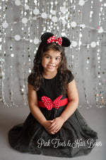 Load image into Gallery viewer, Black Sparkle Minnie Dress-Ready To Ship