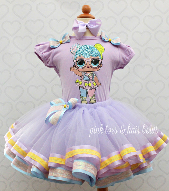 Bon Bon Lol surprise doll tutu set-lol surprise outfit- lol surprise dress