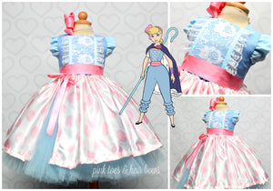 Bo Peep Dress-Bo Peep tutu set-Bo Peep outfit-Bo Peep tutu dress-Toy story costume