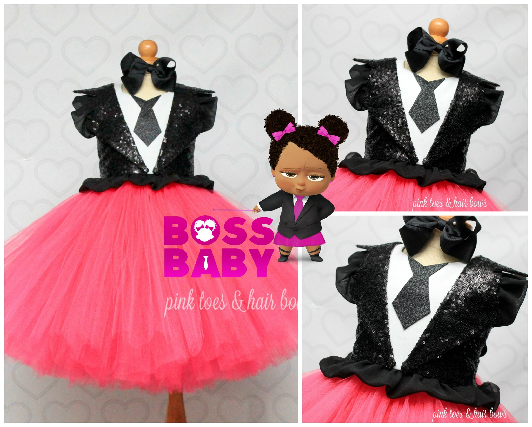 Boss Baby Dress Boss Baby Tutu Set Boss Baby Outfit Boss Baby Tutu Dress