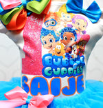 Load image into Gallery viewer, Bubble Guppies tutu set- Bubble guppies outfit-bubble guppies dress-bubble guppies birthday