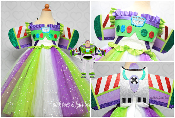 Buzz Lightyear Dress- toy story dress- toy story costume-buzz lightyear costume