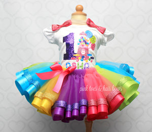 Candy Land tutu set-Candy land outfit-Candy land dress