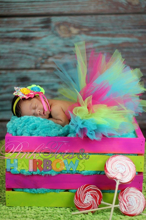 Oh so Sweet Candy Land Newborn tutu set