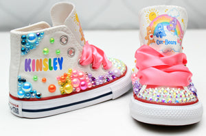 Care Bear shoes- Care Bear bling Converse-Girls Care bear Shoes-Care Bear shoes