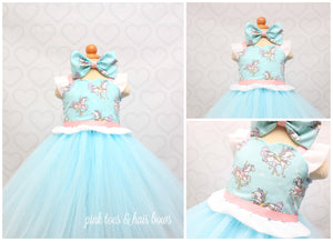Carousel dress-shabby chic dress-carousel tutu dress-carousel birthday dress