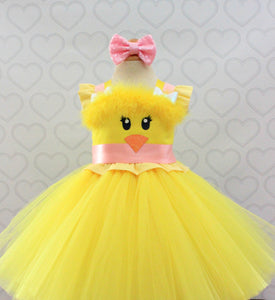 Easter Dress-Easter Chick Dress-Easter Tutu Dress