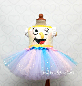 Beauty and the beast Chip tutu Dress-Chip costume-chip tutu dress