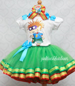 Load image into Gallery viewer, Rugrats tutu set-Rugrats outfit-Rugrats dress-Chuckie outfit