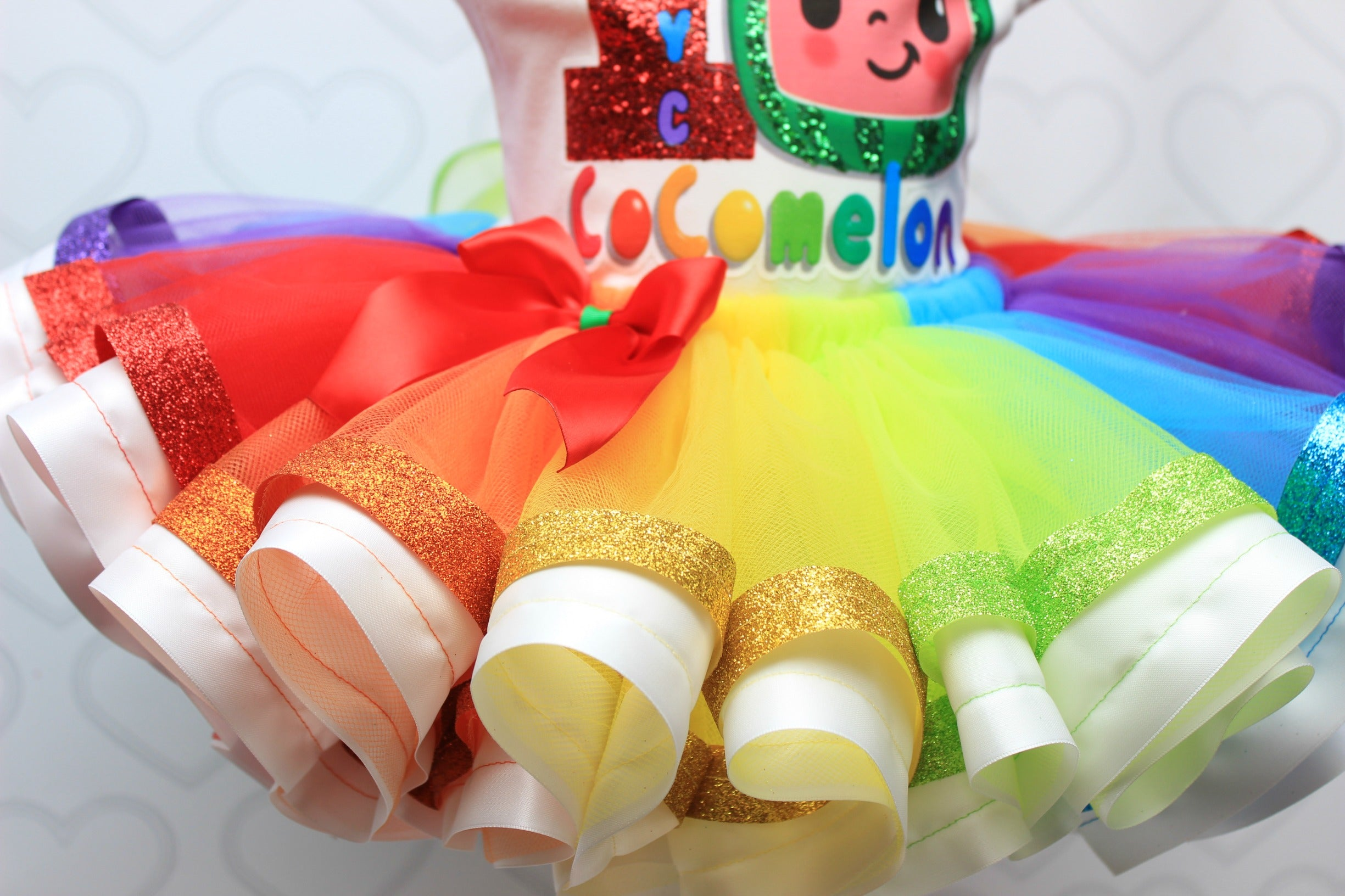 Cocomelon tutu set-Cocomelon outfit-Cocomelon dress