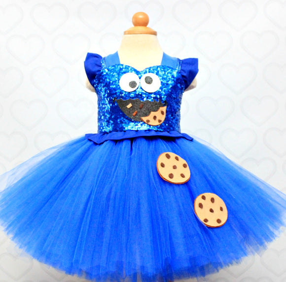 Cookie Monster birthday Dress- Cookie Monster Tutu Dress-Cookie monster tutu- Cookie Monster Dress
