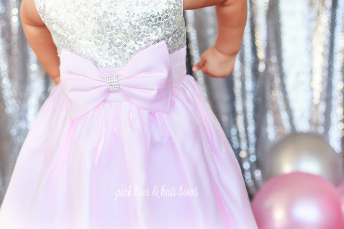 Pretty in Pink Sequin Dress-Ready to ship