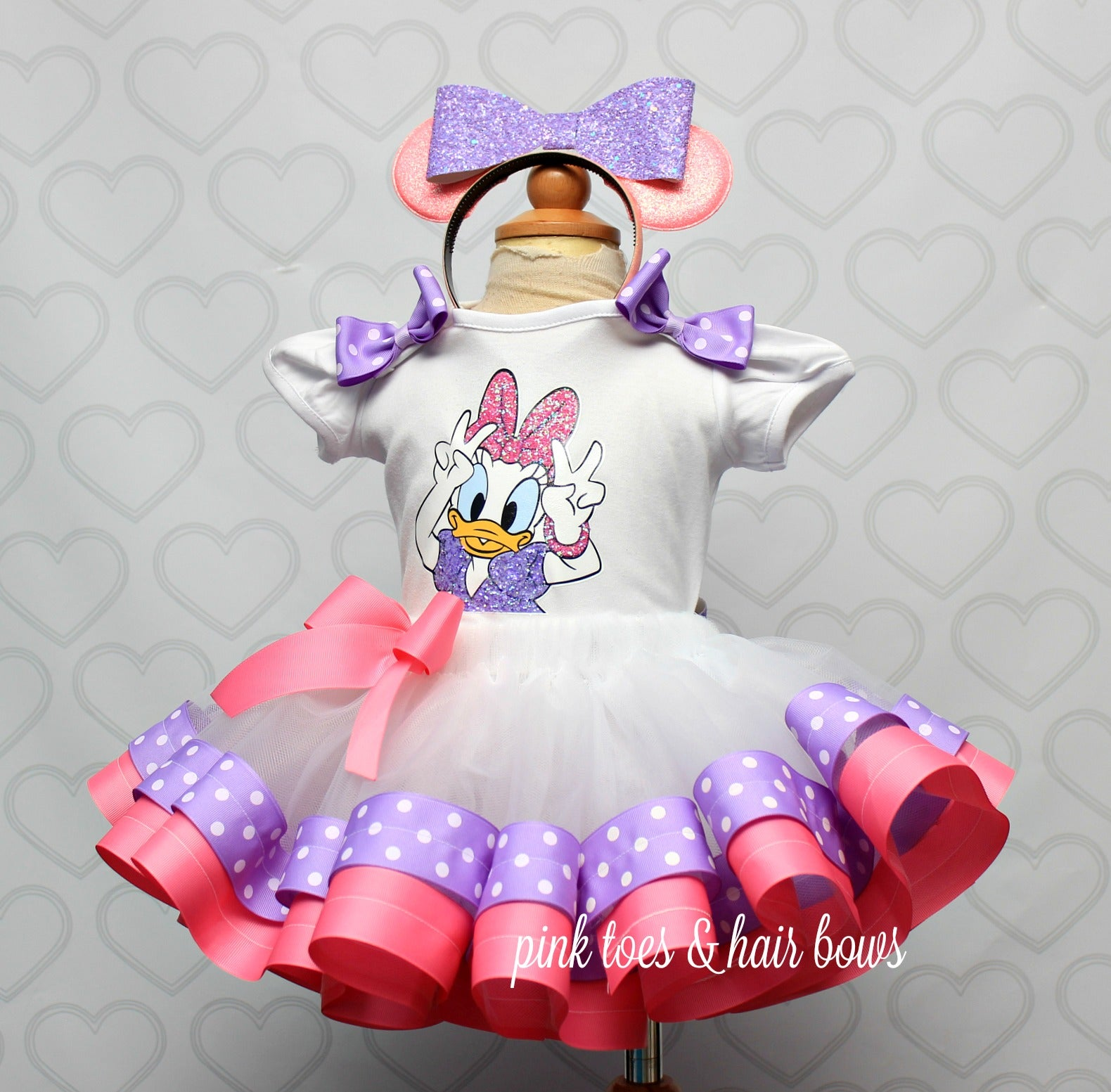 Daisy Duck Tutu set-Daisy Duck outfit-Daisy duck dress- Daisy duck tutu